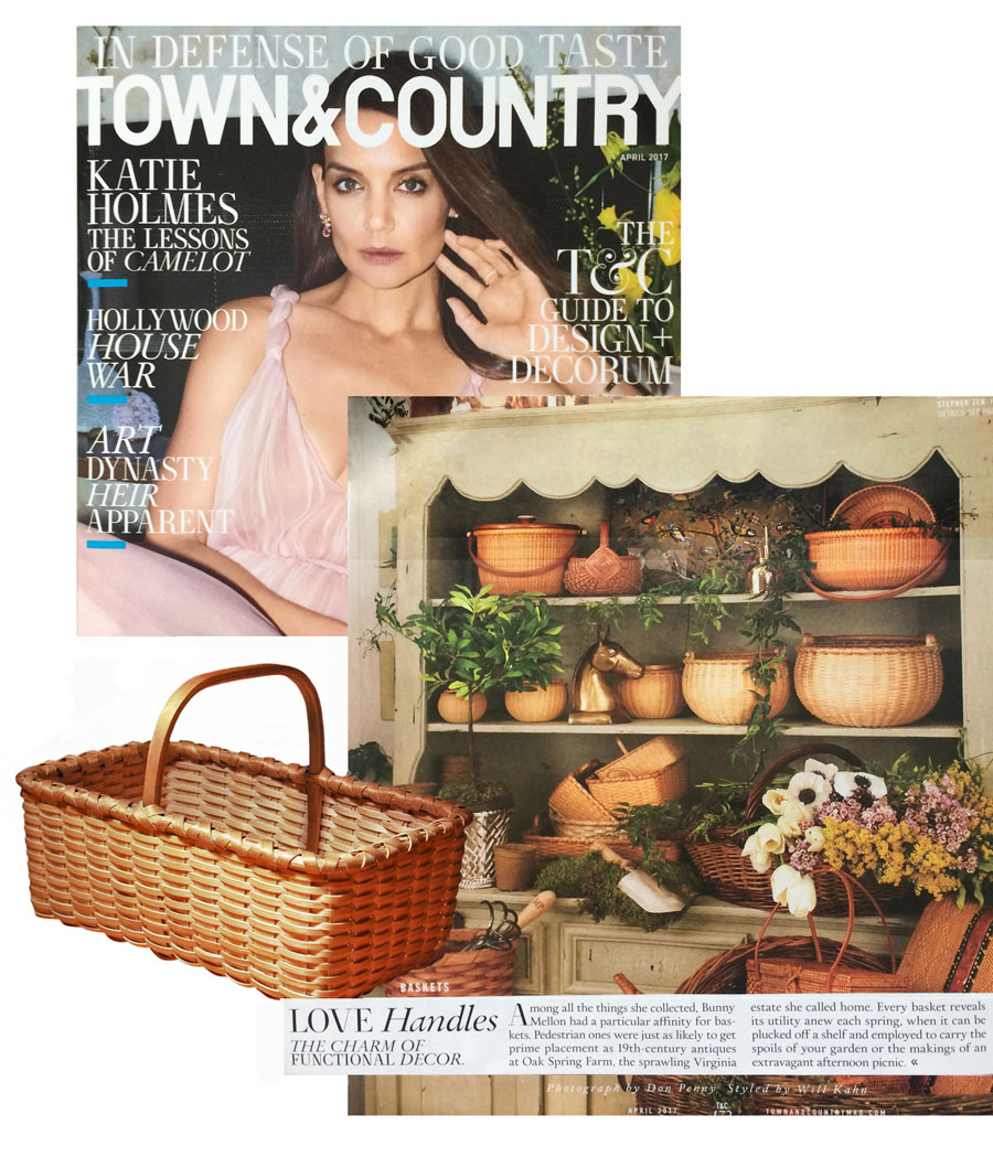 Town & Country Magazine features Zeh swing handle and serving baskets