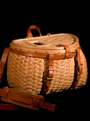Fishing Creel handcrafted of Maine brown ash and leather by Stephen Zeh