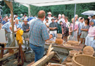 Stephen Zeh demonstrating basketmaking